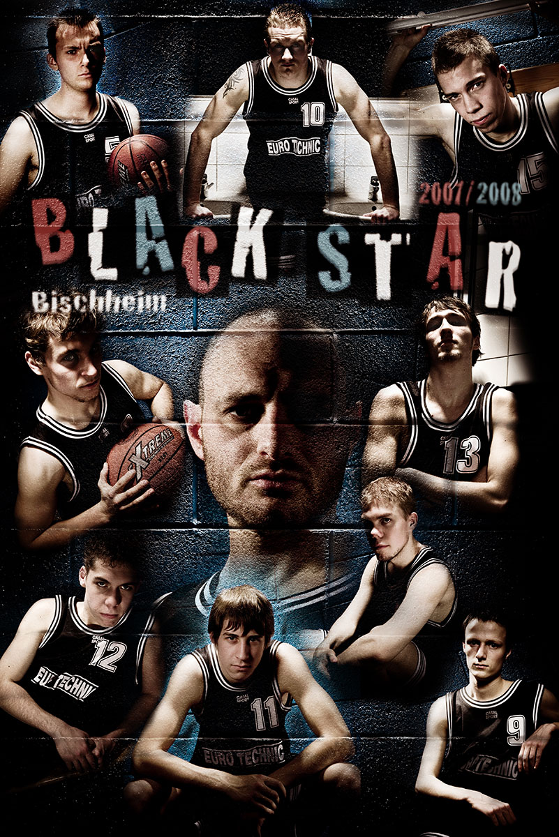 photo montage portrait equipe basket alsace