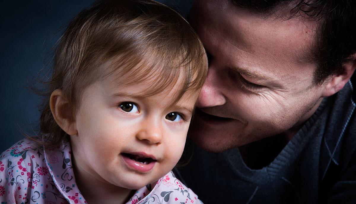 photo portrait studio famille père et fille