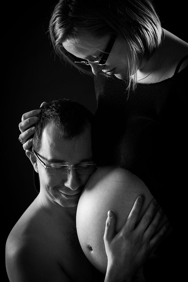 photo studio portrait femme enceinte couple lorraine