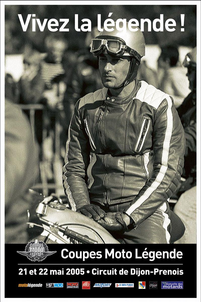 affiche officielle coupes motos légendes dijon prenois