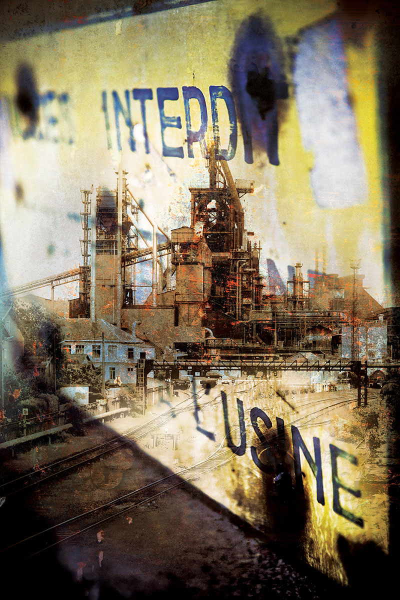 photo montage illustration usine lorraine