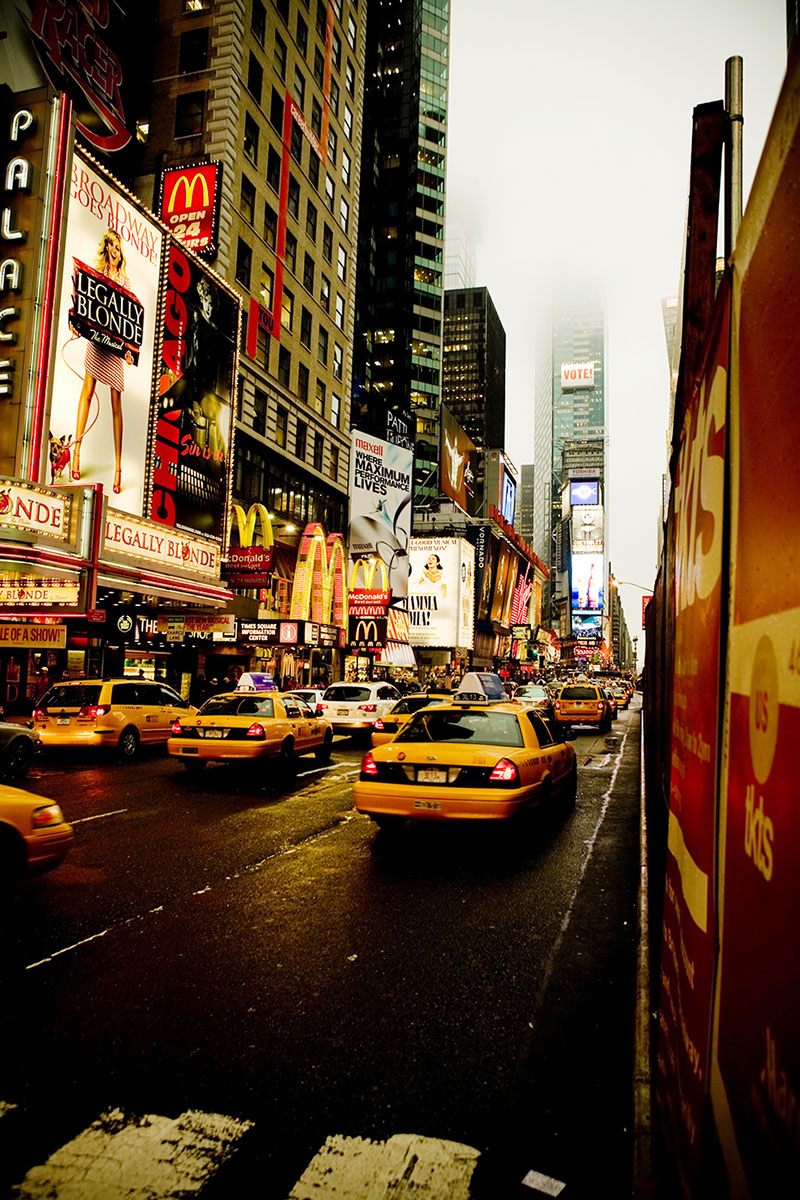 photo de nuit reportage new york voyage illustration time square