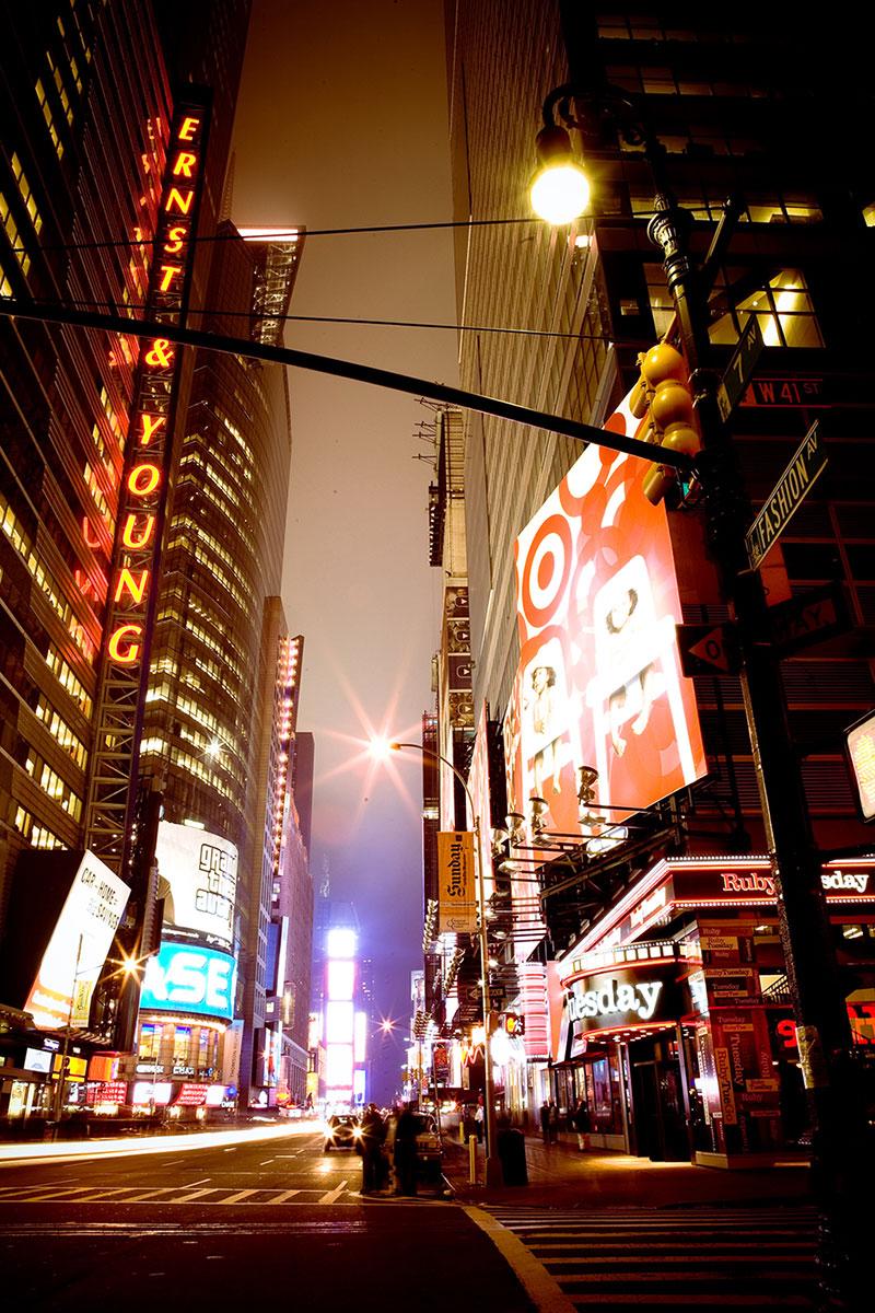 photo de nuit reportage new york voyage illustration time square
