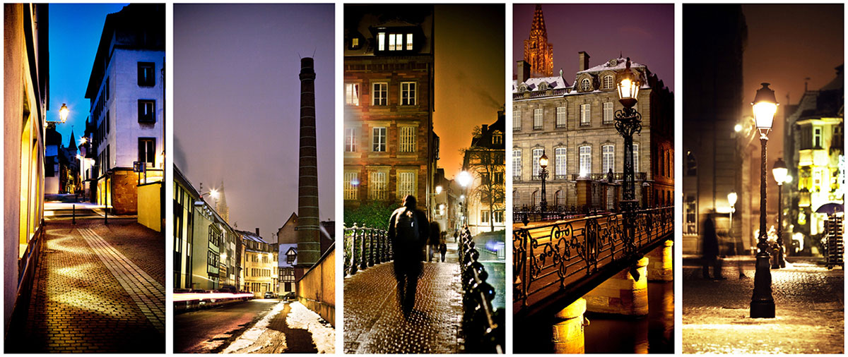 photo illustration de nuit Strasbourg commande taps