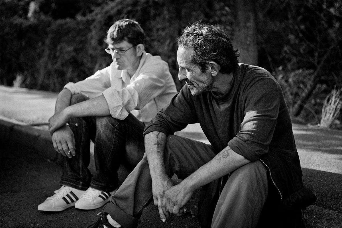 photo reportage lorraine société sdf homme noir et blanc