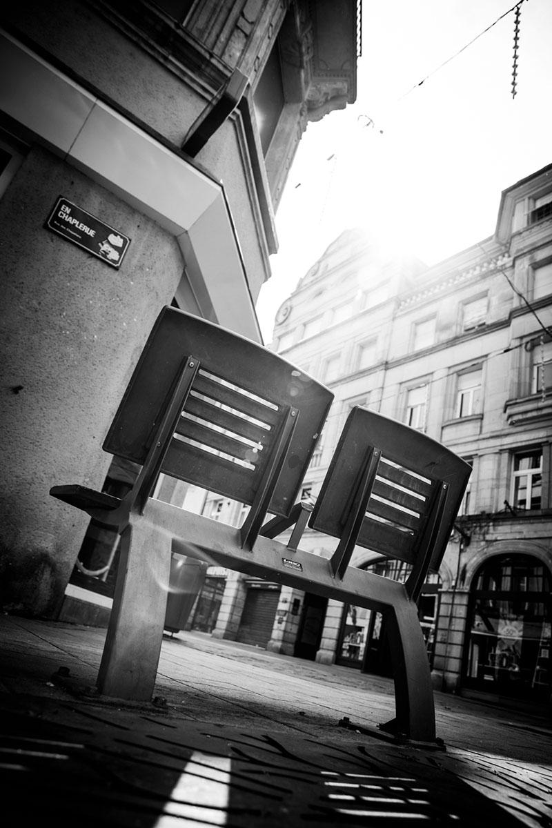 street photography photo de rue noir et blanc metz contre jour